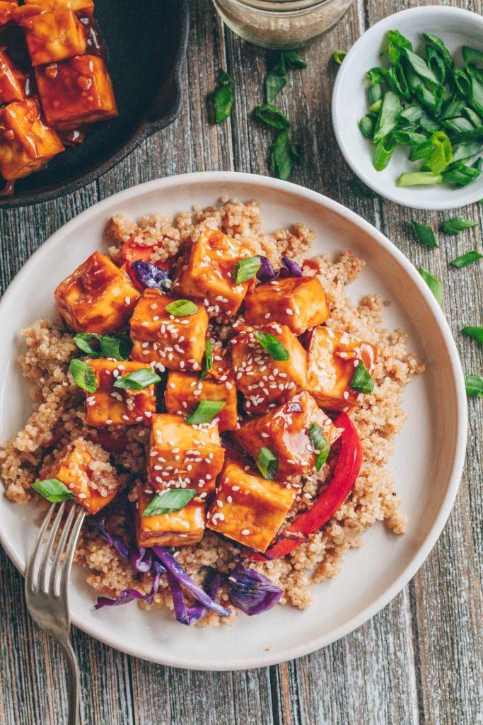 crispy sesame ginger baked tofu