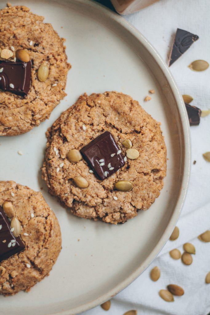 chewy chocolate almond butter cookies