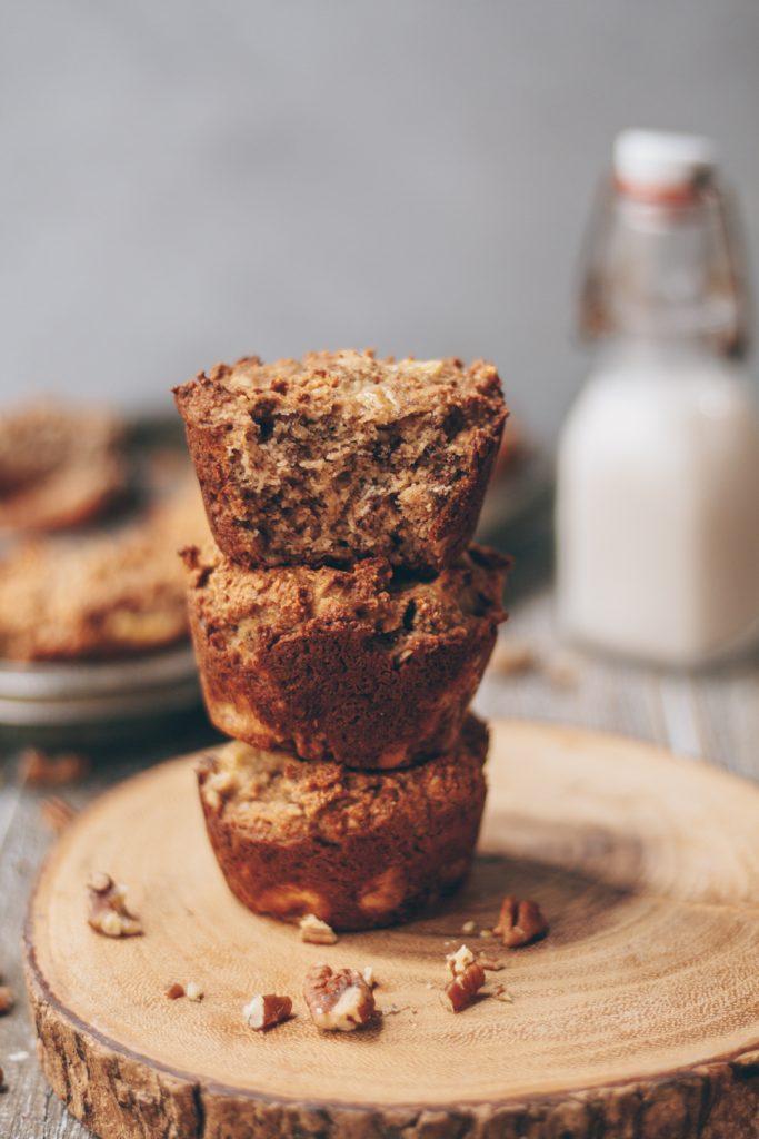 gluten-free banana pecan muffins