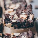 fudgy almond brownies