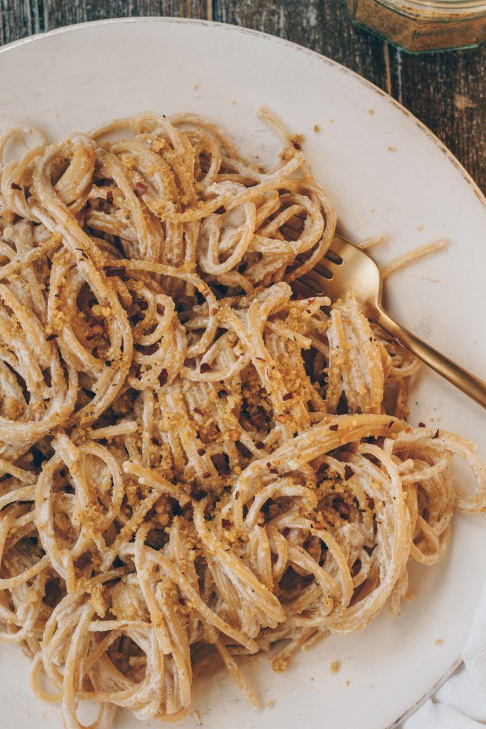 Creamy Walnut White Sauce Pasta