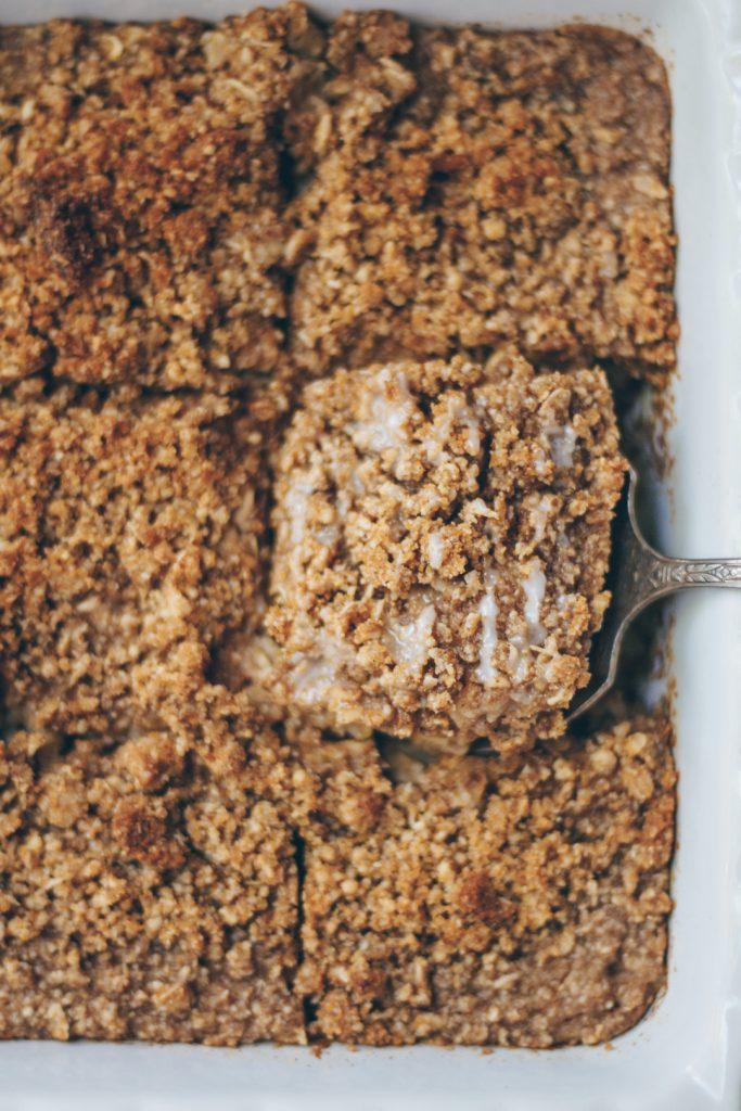 coffee cake baked oatmeal