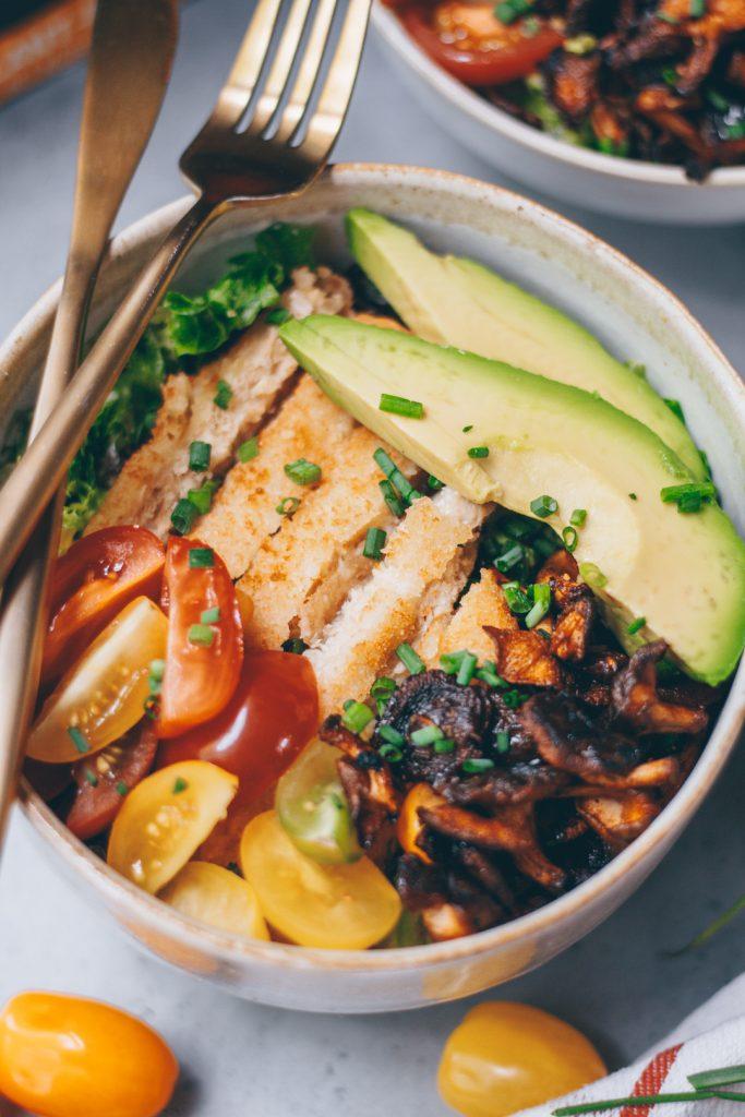 vegan tahini chicken salad