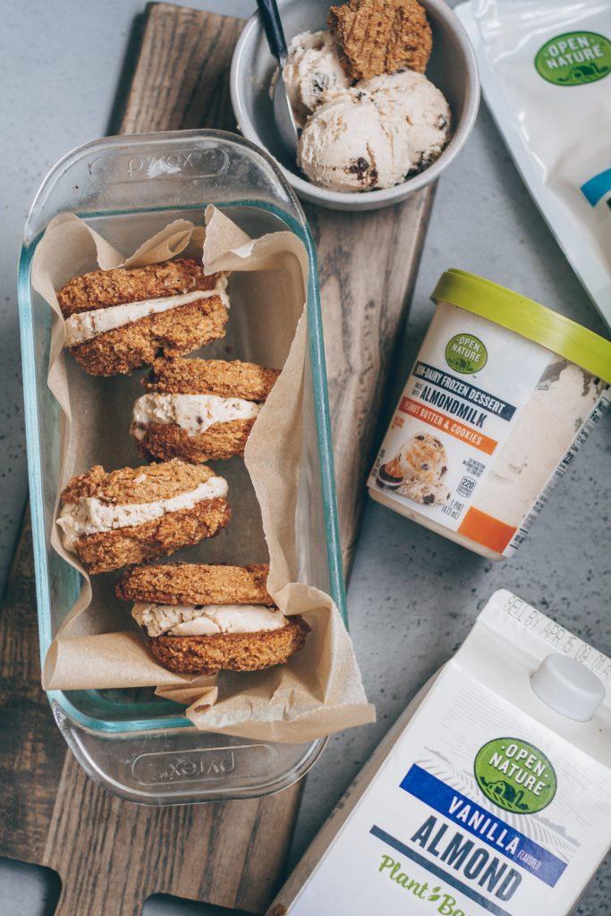 vegan peanut butter ice cream sandwiches