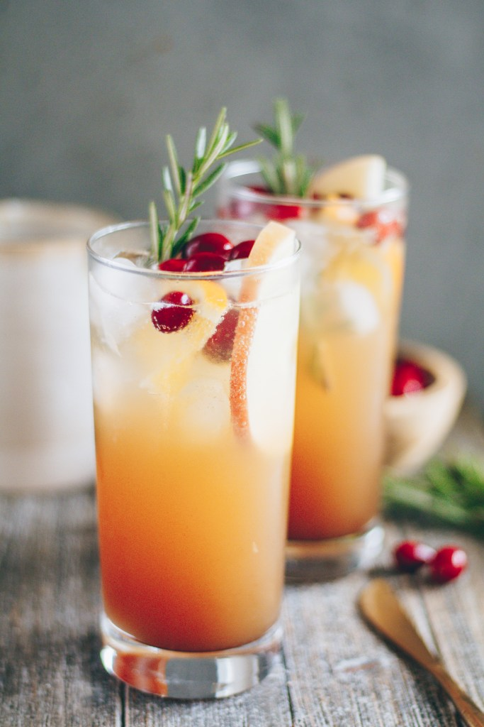 spiced cranberry apple mocktail