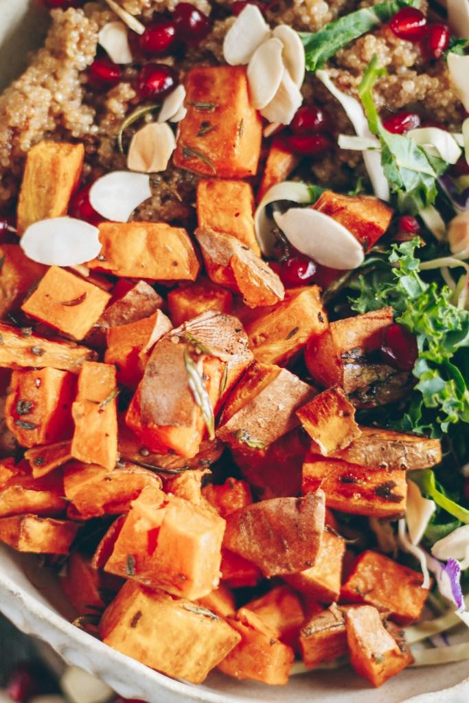 healthy sweet potato nourish bowl