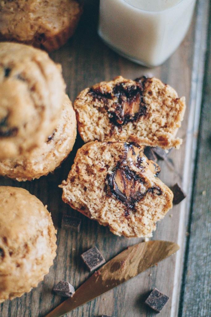 peanut butter cup muffins