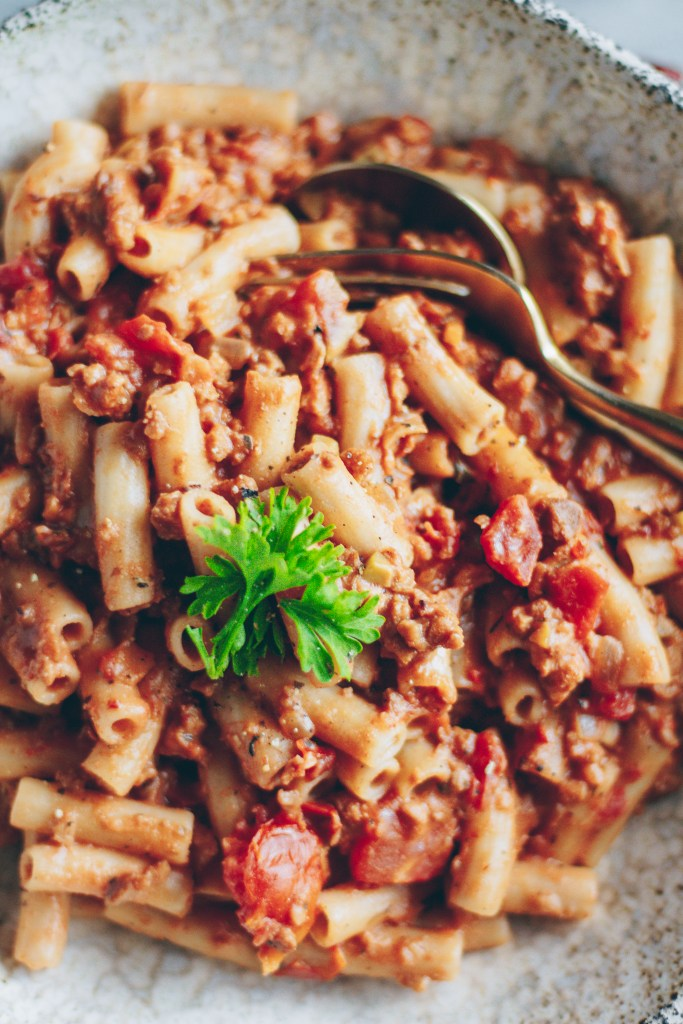 vegan calabrian chili bolognese