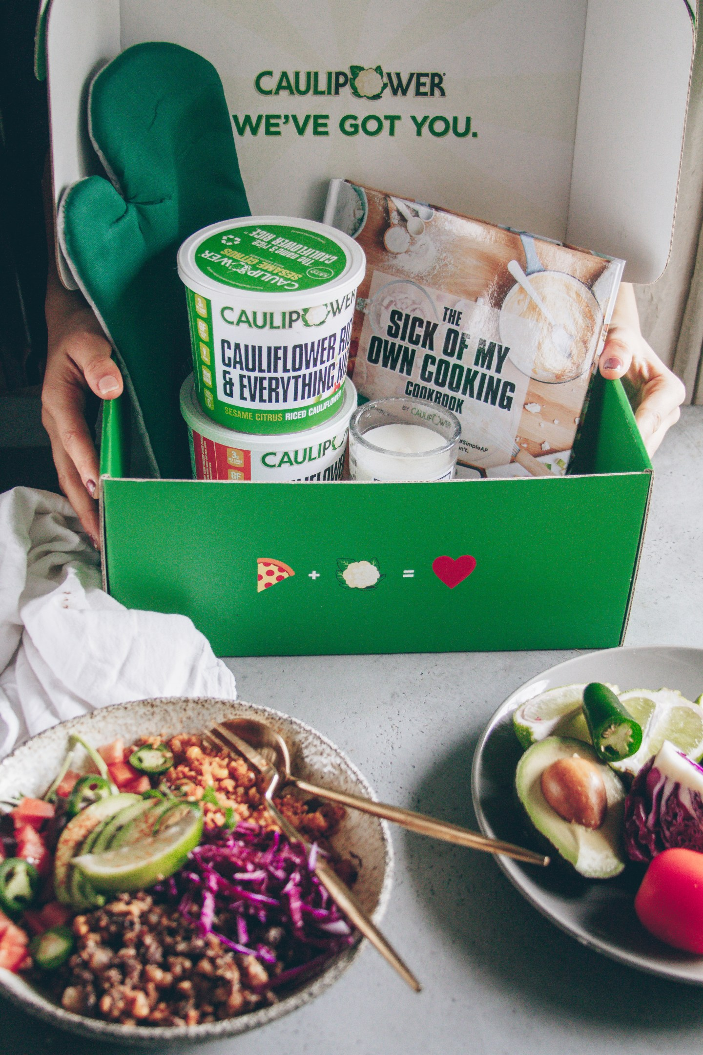 caulipower sick of your own cooking box