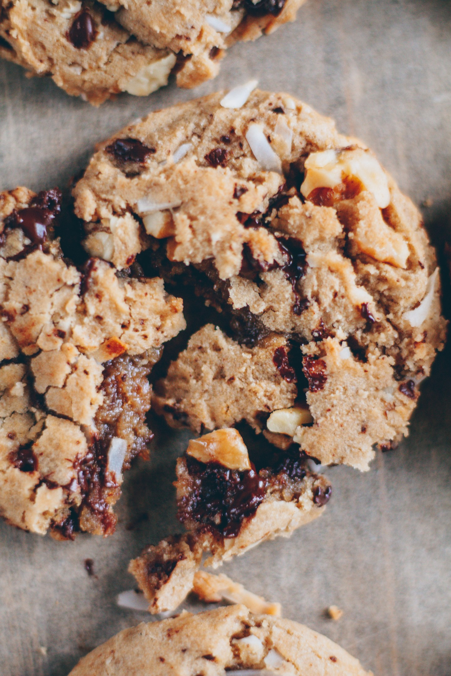 coconut walnut chocolate chip cookies