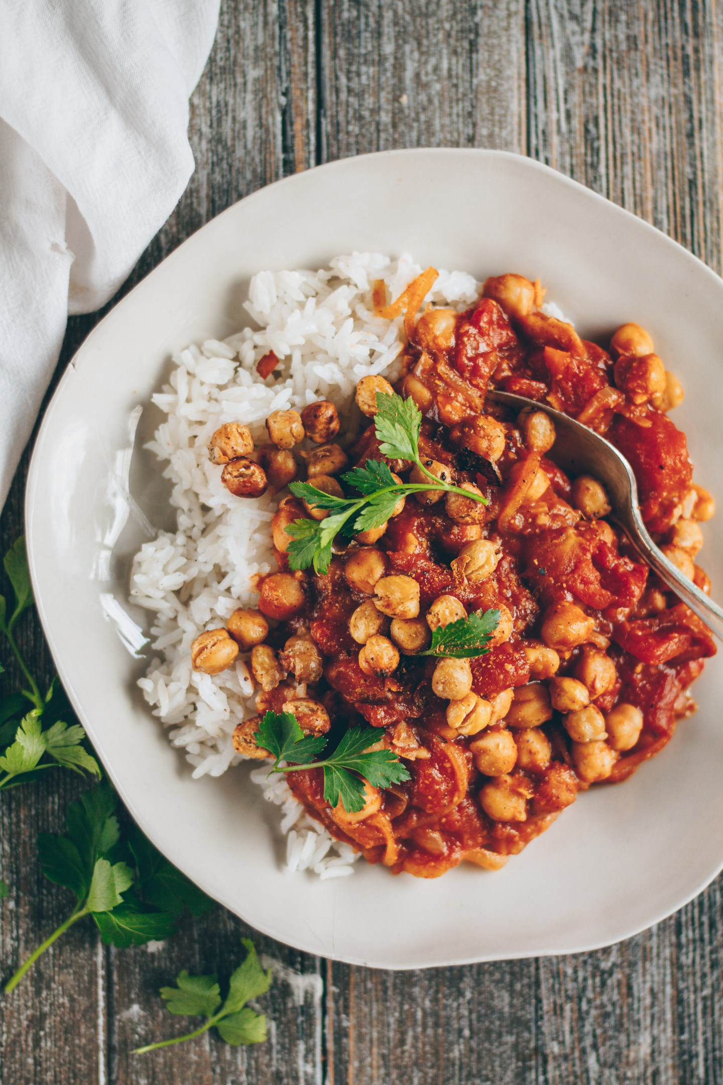 Indian-inspired chickpea curry