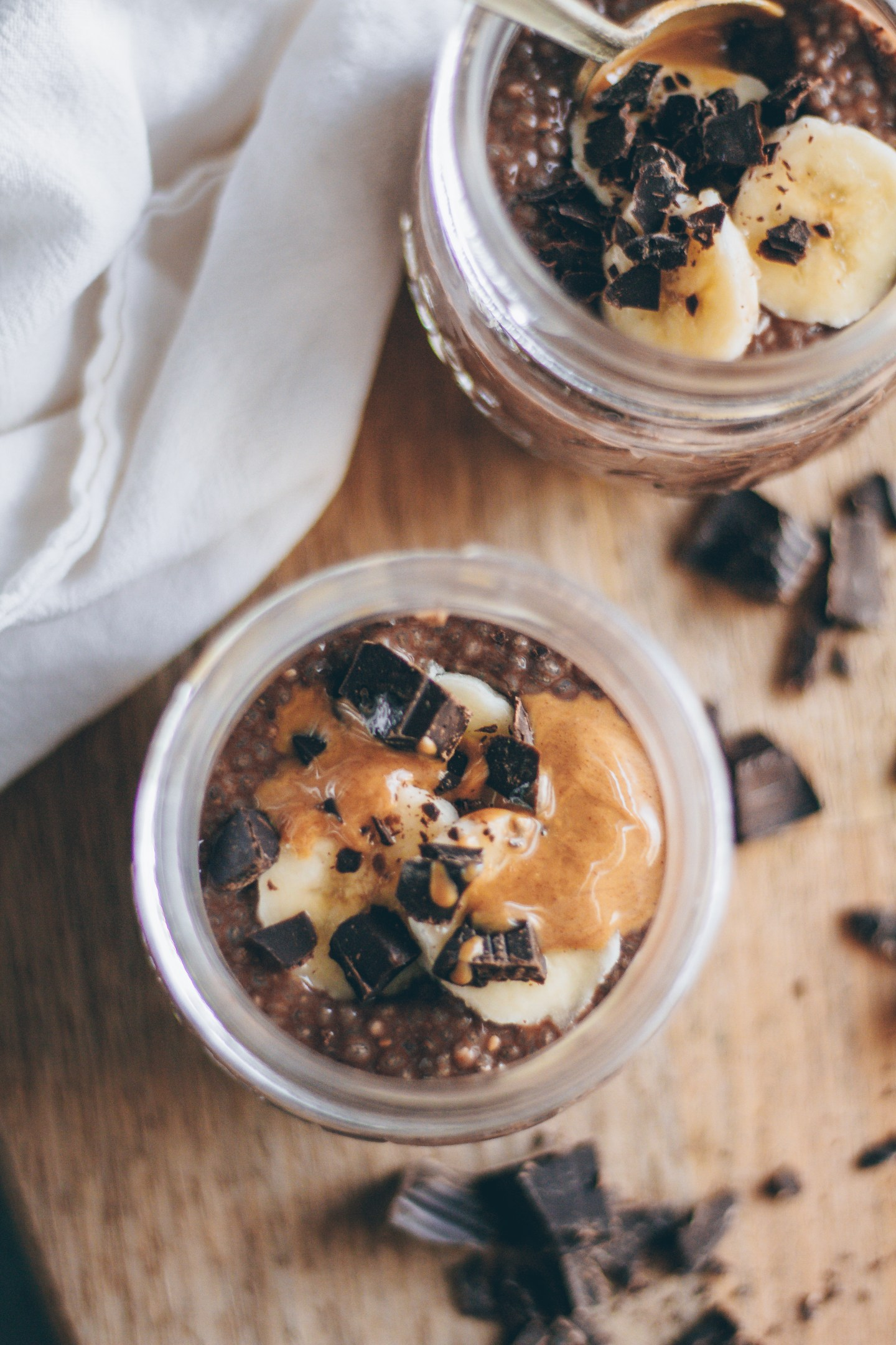 peanut butter chocolate chia pudding