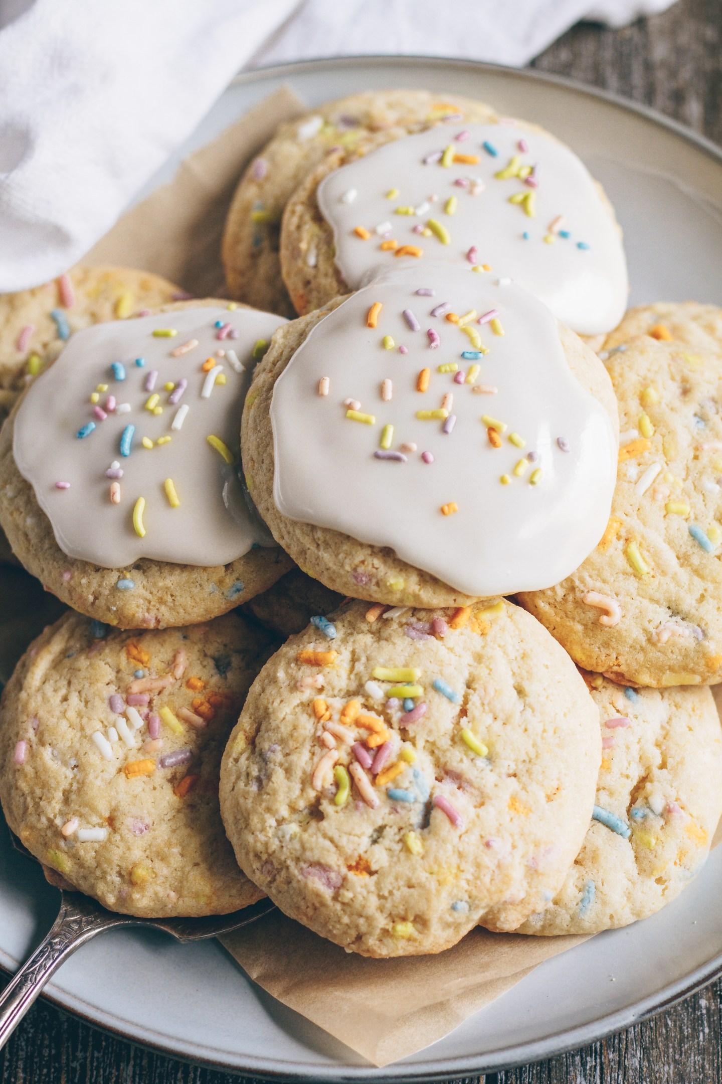 lemon funfetti sugar cookies
