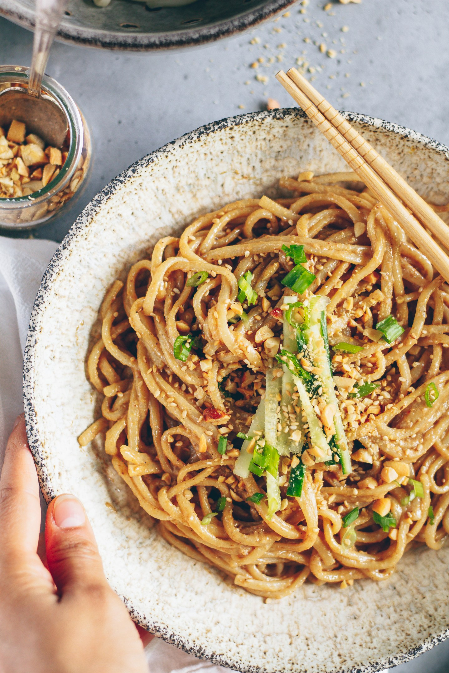 10-minute chinese sesame noodles