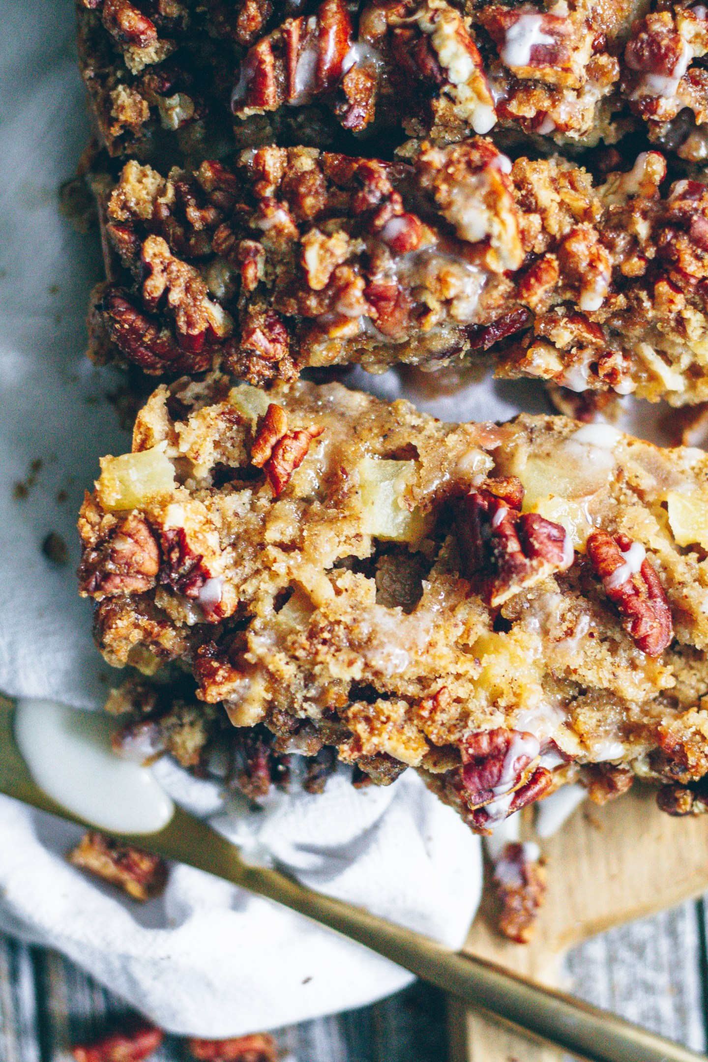 candied pecan apple bread