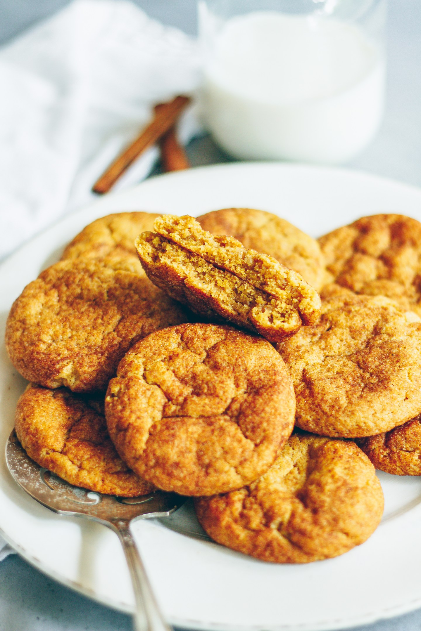 vegan pumpkin snickerdoodles